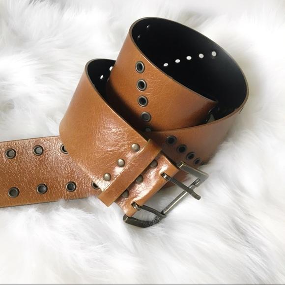 7981cb92 ARMANI EXCHANGE Leather Grommet Belt
